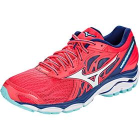 Mizuno Wave Inspire 14 Running Shoes Women teaberry/white/blue depths